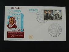 telegraphy telegraph Claude Chappe postal history ITU FDC Monaco ref 73638