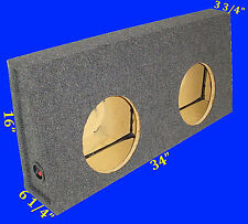"FORD F250 F350 CREW CAB 1999-07 12"" GREY SUBWOOFER SUB ENCLOSURE BOX"