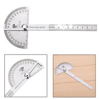 Stainless Steel 180 degree Protractor Angle Finder Arm Measure Gauge Ruler Tool