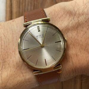BWC Swiss Herrenuhr 34 mm Gold 14k 585 Dresswatch Vintage watch crazy lugs