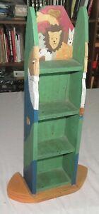 Noah's Ark Hand-made Four Shelf Open Storage Unit 11.53 x 4.5 x 23 inches