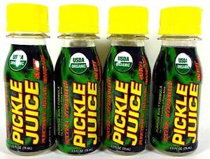 PJ Company Pickle Juice Shot, Functional Organic Beverage, 2.5 fl oz (4 Count)