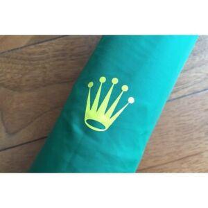 ROLEX Golf Parasol Large Automatic Umbrella Green Promo Gift New