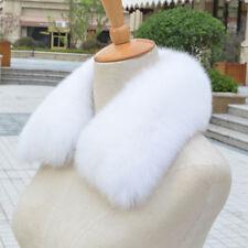 100% Real Fox Vulpes lagopus Fur Collar Women Scarves Shawls Stole Wrap Furry