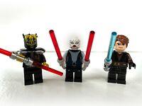 Lego Star Wars Savage Opress #sw0316,Asajj Ventress #sw0318, and Anakin #sw0317