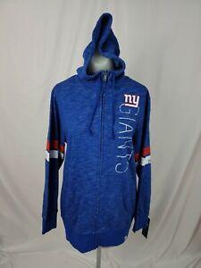 NEW YORK GIANTS New NWT NFL Graphic Full Zip Hoodie Sweatshirt Womens Large