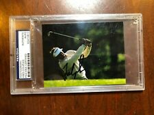 """PSA/DNA Masters Champion Fred """"boom boom"""" Couples Signed & slabbed photograph"""