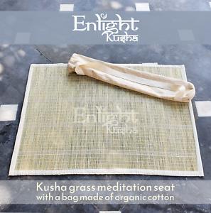 Enlight Meditation yoga organic cotton Cushion with Kusha grass Set
