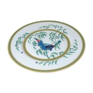 HERMES Toucan bird plate dish Pottery White multicolor Used