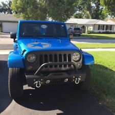 07-18 Jeep JK Wrangler Stubby Front Bumper W/ Winch Plate & OE Fog Light Housing