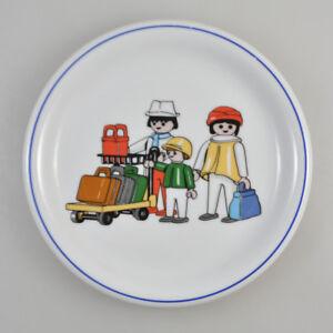 """Teller - Playmobil - """"Fahrzeuge / Verkehr"""" - Arzberg Porzellan - Vintage Plate"""
