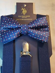 Polo Ralph Lauren Suspenders and Bow Tie set NWT