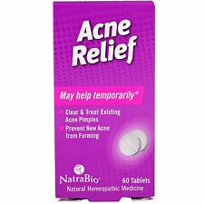 Acne Relief, 60 Tablets, Natural Homeopathic - NatraBio