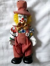 Rare Creepy Twisting Head Double faced Clown Doll Figure Happy Angry