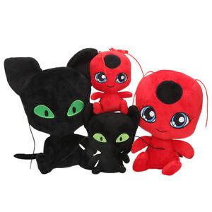 Plüschtier Miraculous Ladybug Cat Plagg & Tikki Noir Stofftiere Plüsch Spielzeug