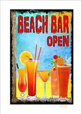 Beach Bar Ibiza Novelty Metal Door Wall Sign Kitchen Sign Pub Sign Cocktail Bar