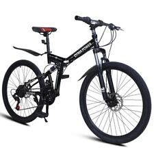 26in Mountain Bike 21 Speed MTB Bicycle Full Suspension Disc Brakes Adult Bike