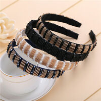 Women Crystal Headband 20mm Wide Korean Hair Band Hair Accessories