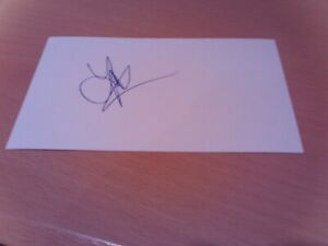 signed card of x lincoln c watford nott forest chesterfield footballer jason lee