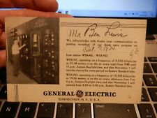 More details for art deco radio  w2 xaf     attractive advertising general electric  schenectady
