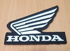 1xNEW HONDA WING MOTOR BIKE LOGO SYMBOL EMBROIDERED IRON ON PATCH SHIRT PO81