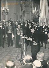 René Coty c.1954 - Discours Voeux de Noël Corps Diplomatique Paris - PR 707
