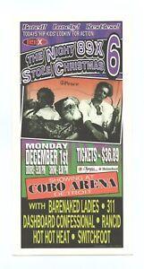 Dashboard Confessional Handbill w/ 311 RANCID 2003 Dec 31 Detroit