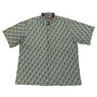 Tori Richard Honolulu Men's 2XL Hawaiian Shirt Feather Floral Cotton Lawn USA