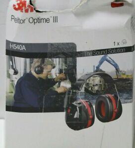 3M Peltor Optime III Kapselgehörschutz schwarz-rot für max. Dämpfung - SNR 35
