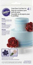 Wilton Peony Gum Paste Flower Petals Cutouts Cutter Set 417-2574 4 Piece set