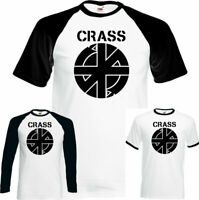 Crass Symbol T-Shirt Mens Anarchy Punk Rock Logo Anarchist Top Che Guevara Top