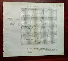 1900's Diagram Survey Map Irregular Land Holdings, Creek Indian Nation Citizens