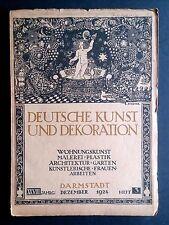 Deutsche Kunst und Dekoration Heft 3 1924 GAUGUIN WERKBUND Die Form Interiors