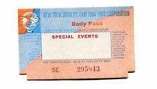 Vintage DAILY PASS SPECIAL EVENTS NYWF 1964 NY Worlds Fair