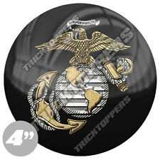 "Premium 4"" Custom Gloss Decal Sticker For Car Truck SUV Window - USMC MARINES L"
