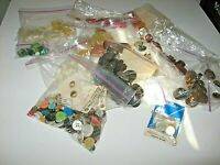 LOT 100s Buttons 1 Lb+ Mixed Vintage + New Metal Plastic Sewing Craft Dolls