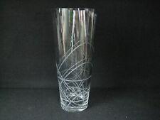 "Royal Douolton ""Viva"" cut glass vase Grey tint 30cm"