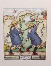Vintage Mary Engelbreit Pals Clip Art Repurpose Calendar Page
