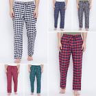 Mens Pajama Pants Lightweight Soft Plaid Sleep Lounge Pants Pyjama With 2 Pocket