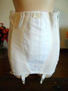 Vin New Rago Firm Control Hi Waist Open Bottom Zippered Girdle w/garters Pink 8X