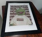 Supreme x Kermit the Frog Fairchild Paris Glass Framed Picture #57/400 Limited
