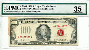 1966 $100 Legal Tender Note FR-1551 VF-35 PMG Certified