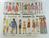 Dress Patterns Girls / Teens Sizes 7 to 14 Simplicity Butterick Busybodies Qty 5