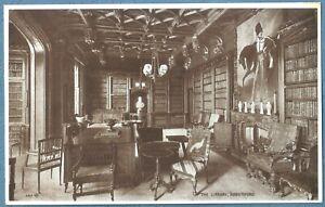 Vintage Valentines Postcard    The Library Abbotsford      Sir Walter Scott Home