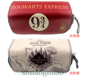 Harry Potter Hogwarts Zipper Pencil Box Case School Stationery Make Up Pouch