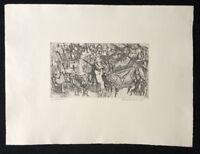 Hilmar Friedrich, Cembalokonzert, Radierung, 1961, handsigniert und datiert