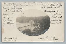 Endicott Rock—Weirs Beach RPPC Laconia NH Lake Winnipesaukee Antique Photo 1906