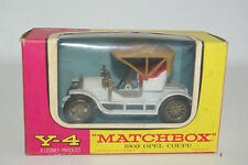 MATCHBOX YESTERYEAR Y-4 Y4 1909 OPEL COUPE WHITE VN MIB RARE SELTEN!!