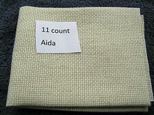 A piece of Oatmeal 11 count Aida   46 by 30cms (18 by 12 inches)