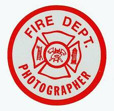 "FIRE DEPARTMENT PHOTOGRAPHER REFLECTIVE 2 1/2""  DECAL - Fire Photographer Decal"
